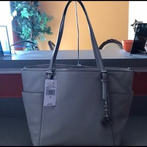 Michael Kors grey Leather Tote